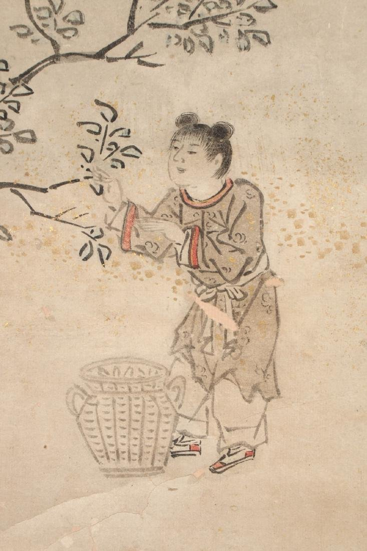 CHINESE SCROLL OF WORKERS DURING HARVEST SEASON - 8