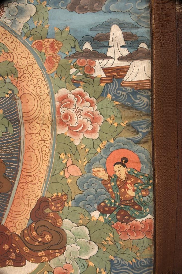 ANTIQUE TARA THANGKA WITH COVER SILK - 5