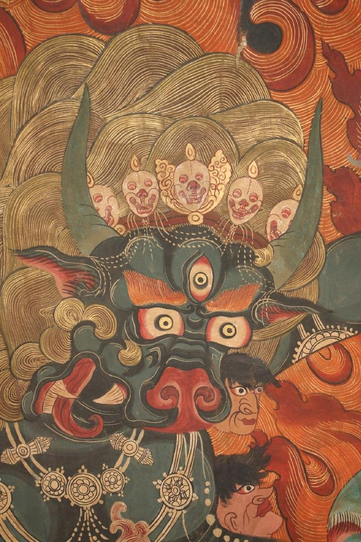 THANGKA OF FLAMING YAMANTAKA - 2