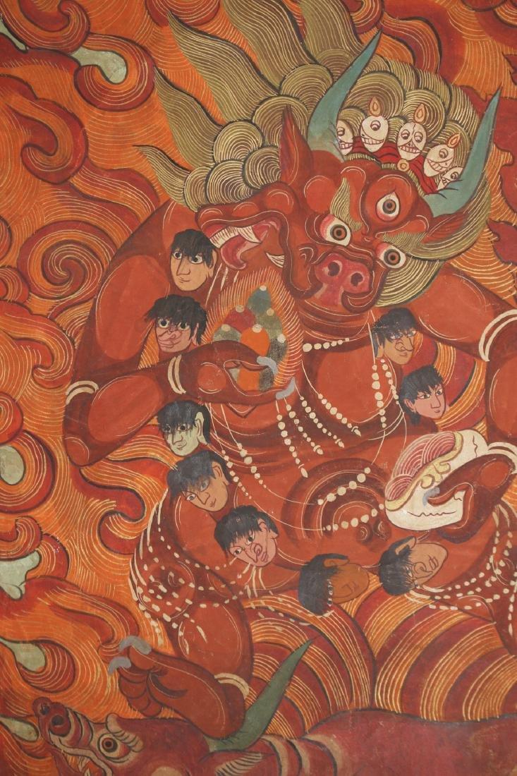 THANGKA OF FLAMING YAMANTAKA - 4