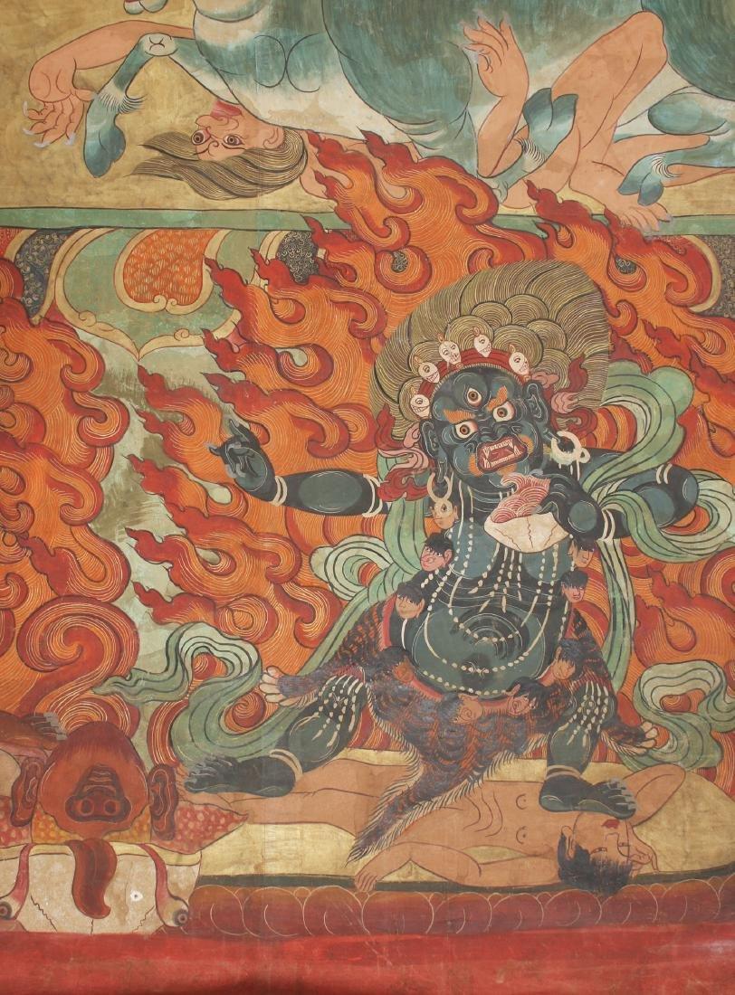 THANGKA OF FLAMING YAMANTAKA - 5