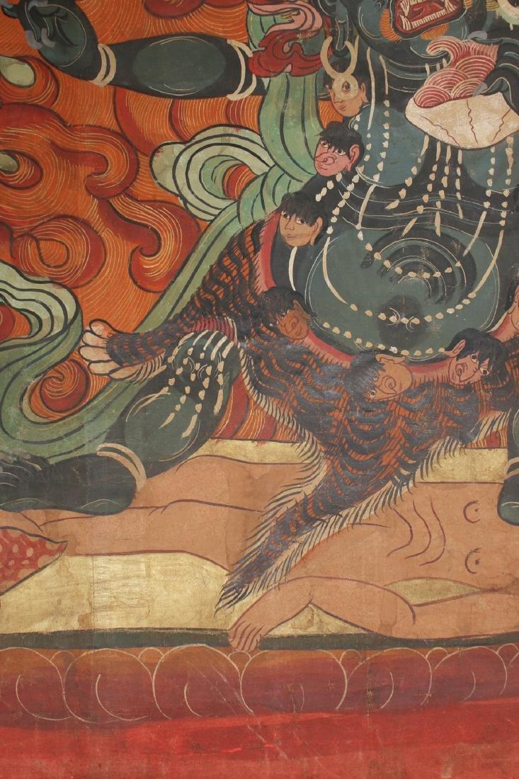 THANGKA OF FLAMING YAMANTAKA - 6