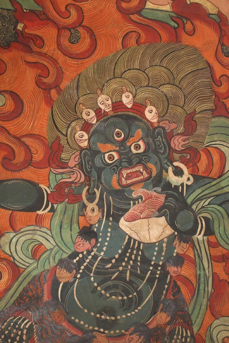 THANGKA OF FLAMING YAMANTAKA - 7