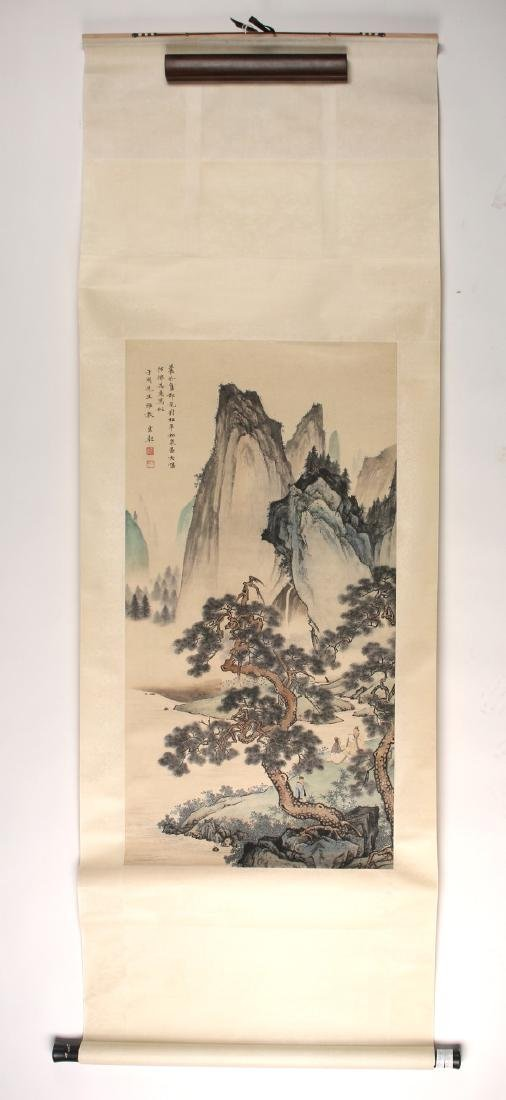 MOUNTAIN LANDSCAPE SCROLL