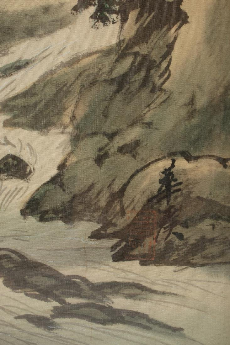 TWO CHINESE WATERCOLOR PAINTINGS ON SILK - 5