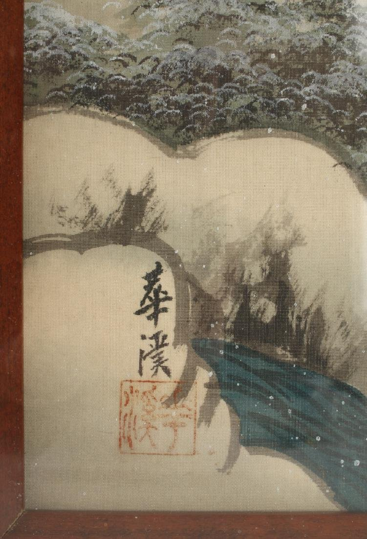 TWO CHINESE WATERCOLOR PAINTINGS ON SILK - 6