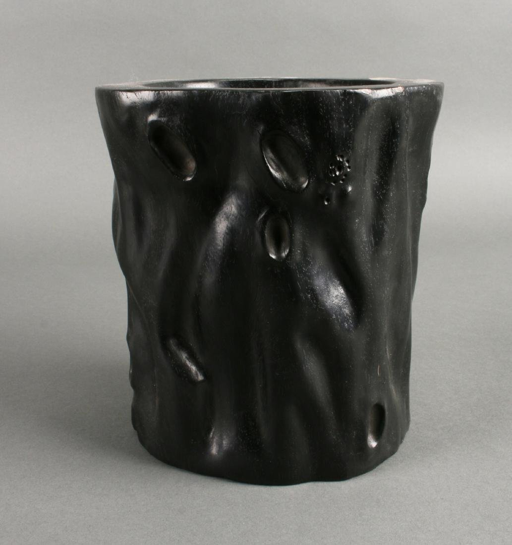 NATURALISTIC ZITAN BRUSH POT