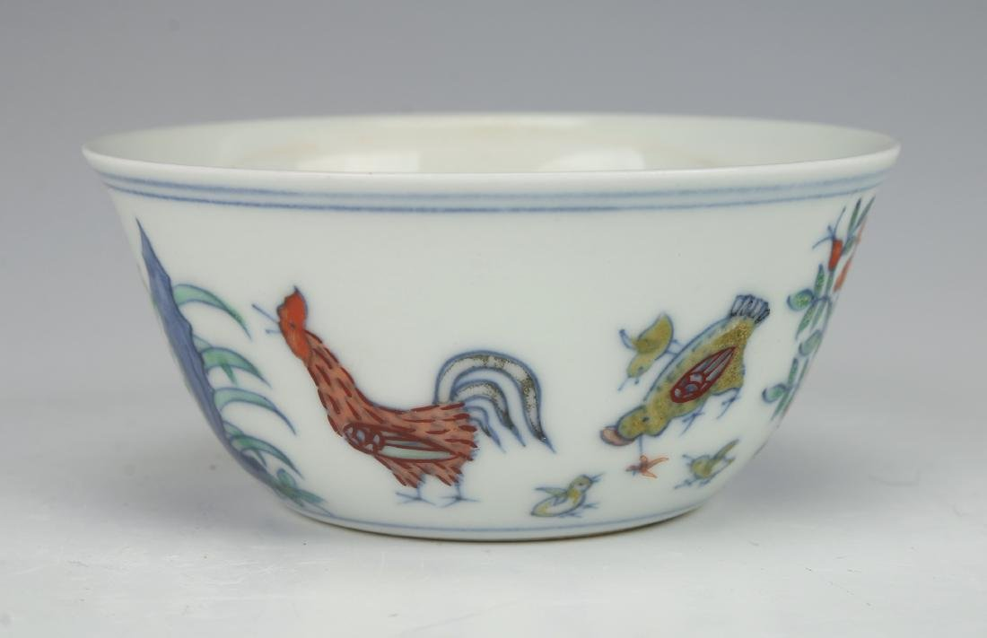 CHINESE ROOSTER TEACUP
