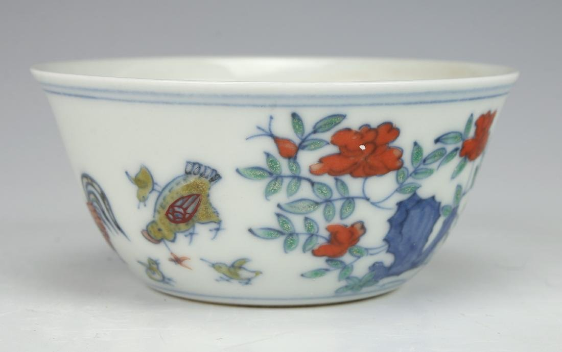 CHINESE ROOSTER TEACUP - 2