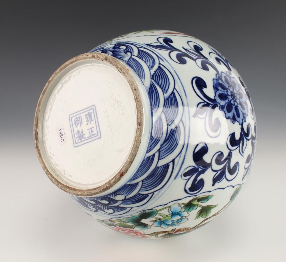 BLUE AND WHITE DOUBLE GOURD VASE - 8