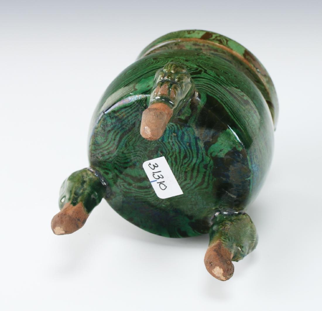 GREEN CERAMIC CENSER - 5