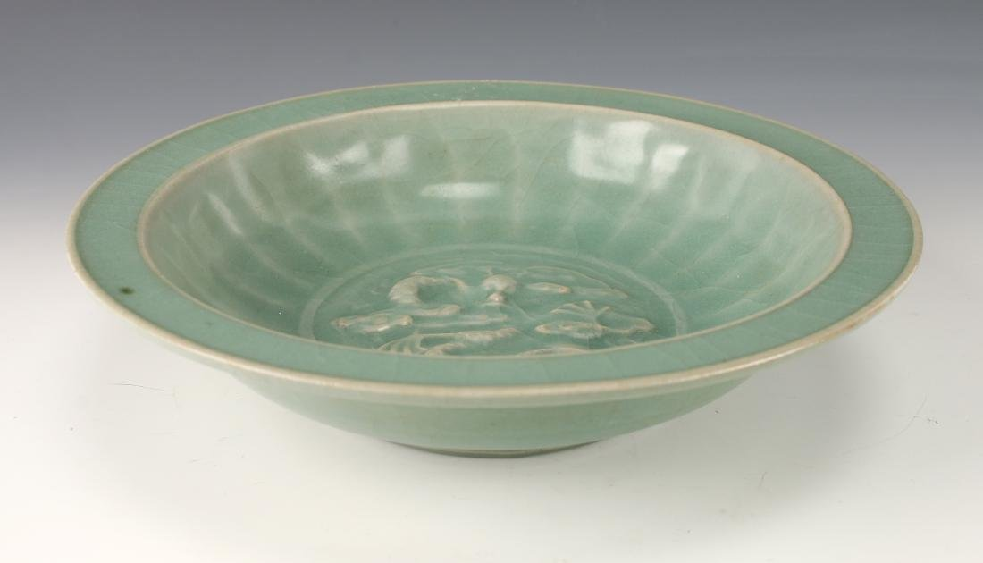 CELADON BOWL WITH DRAGON - 2