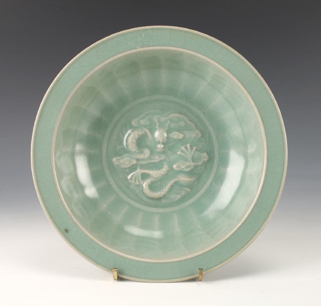 CELADON BOWL WITH DRAGON - 3