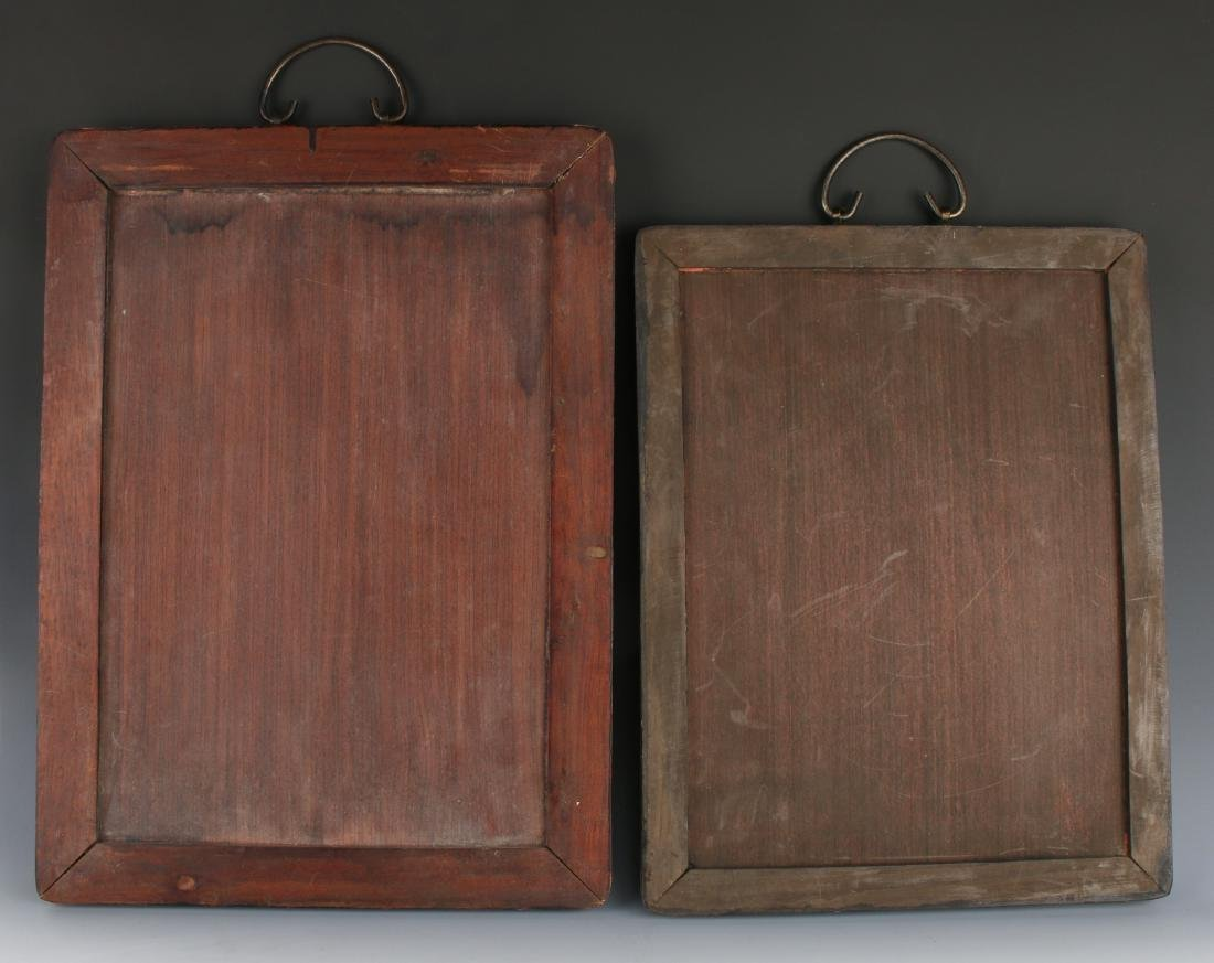 PAIR OF CHINESE PLAQUES - 7