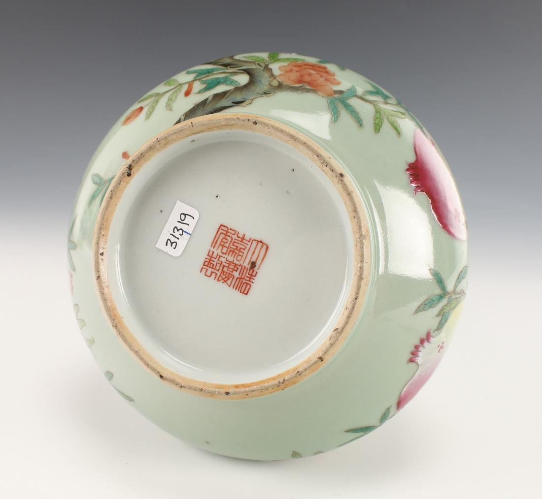 CHINESE VASE WITH POMEGRANATES - 5