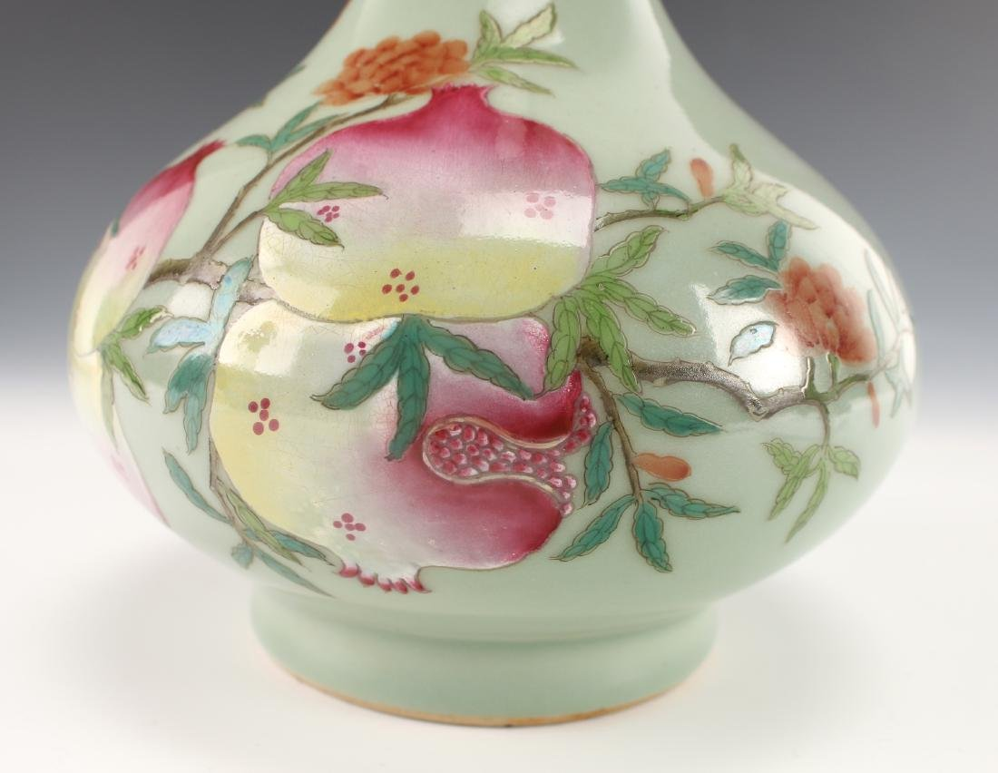 CHINESE VASE WITH POMEGRANATES - 6