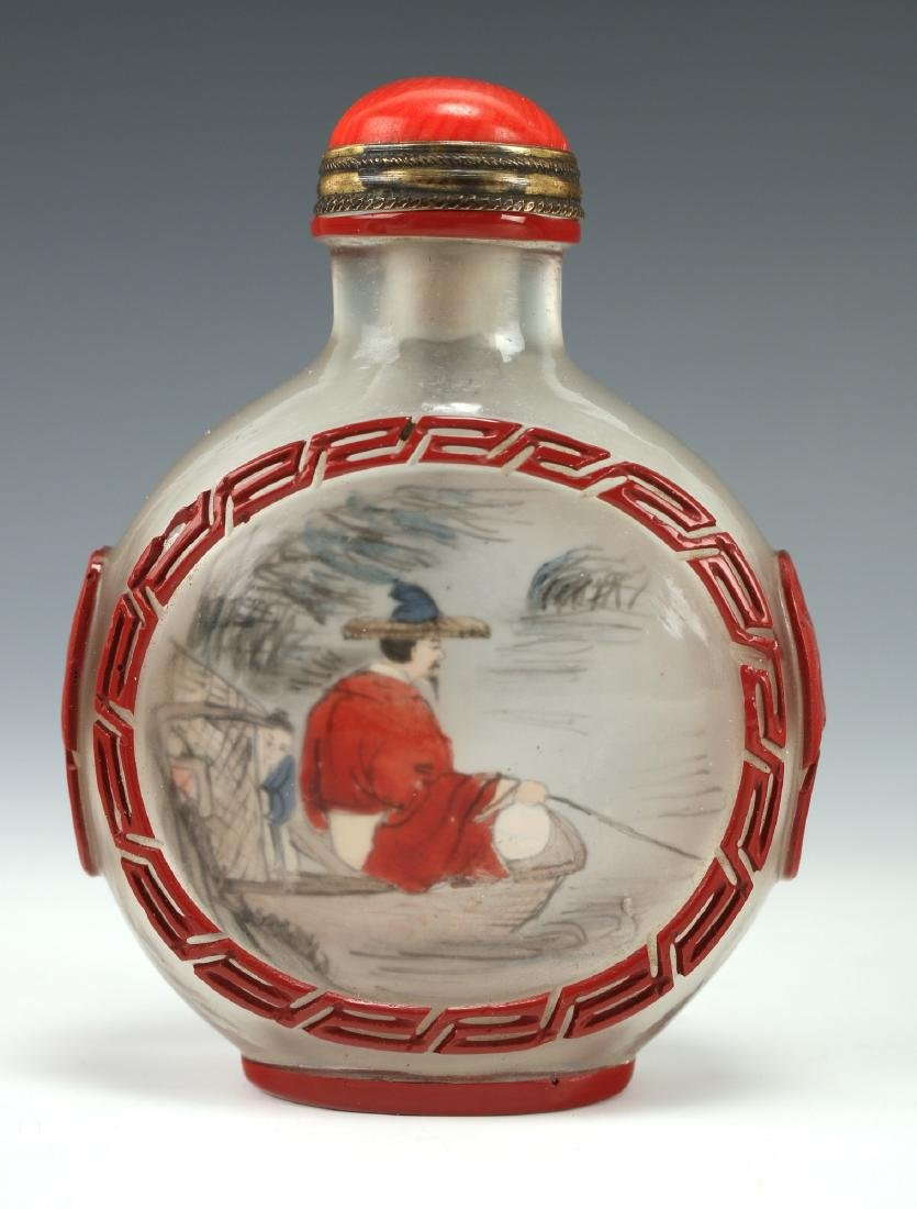 FOUR CHINESE SNUFF BOTTLES - 5