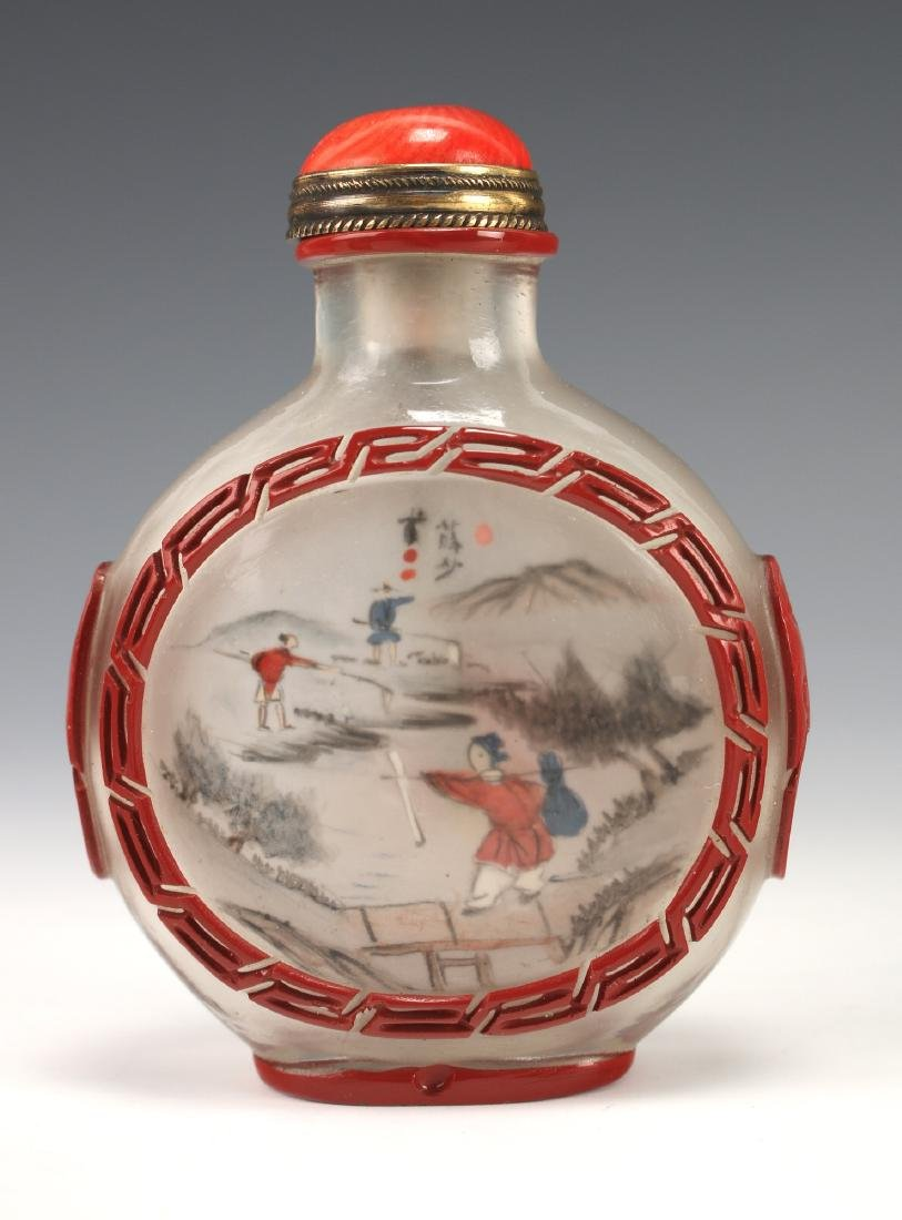 FOUR CHINESE SNUFF BOTTLES - 6