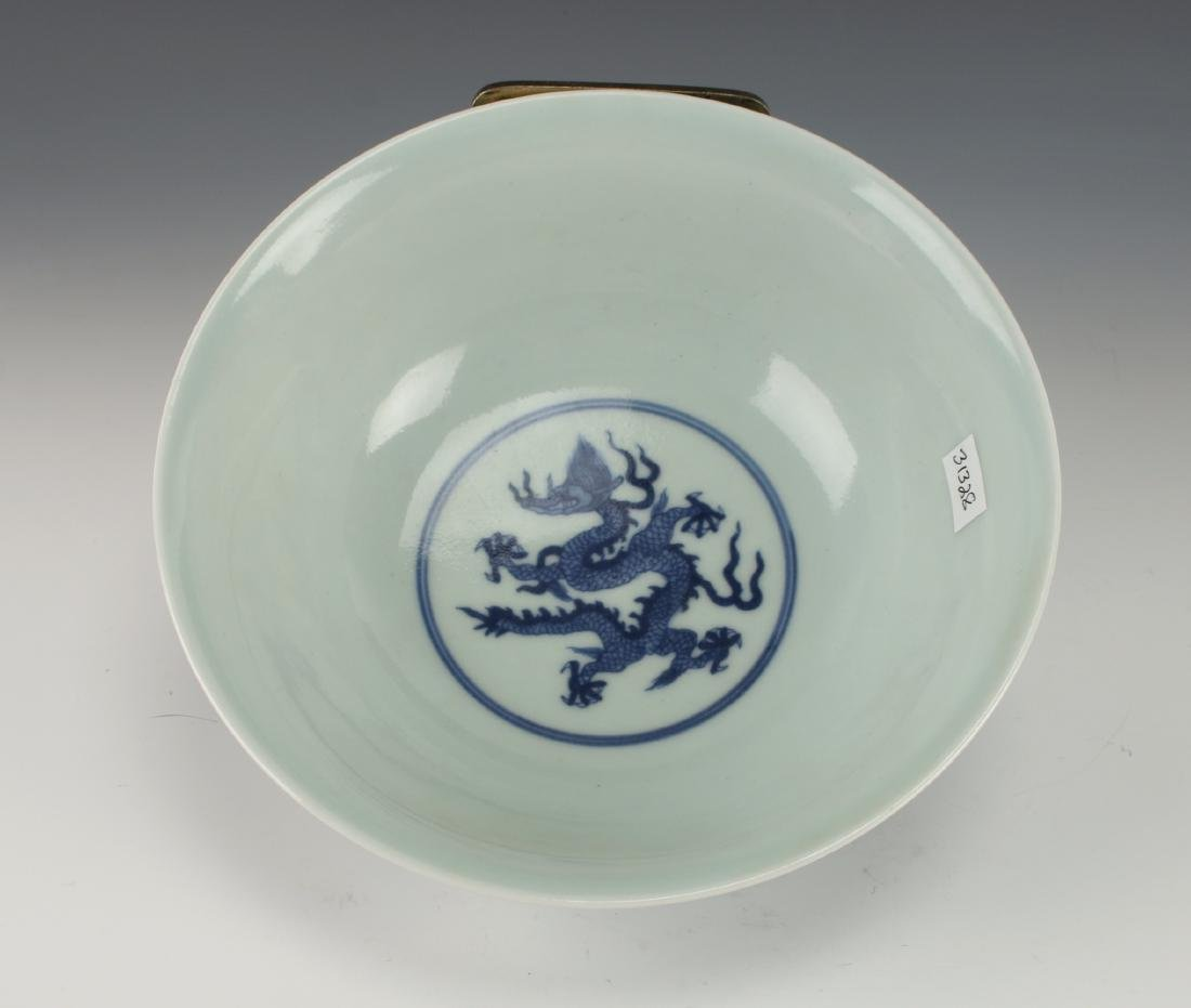BLUE AND WHITE DRAGON BOWL - 2
