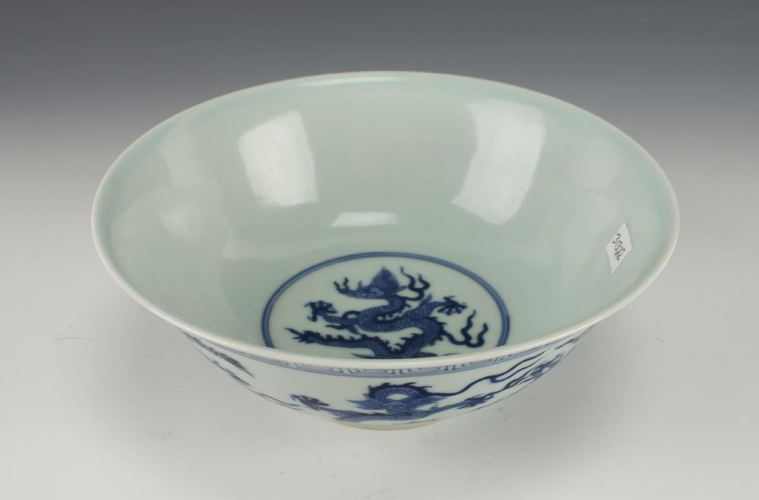 BLUE AND WHITE DRAGON BOWL - 3