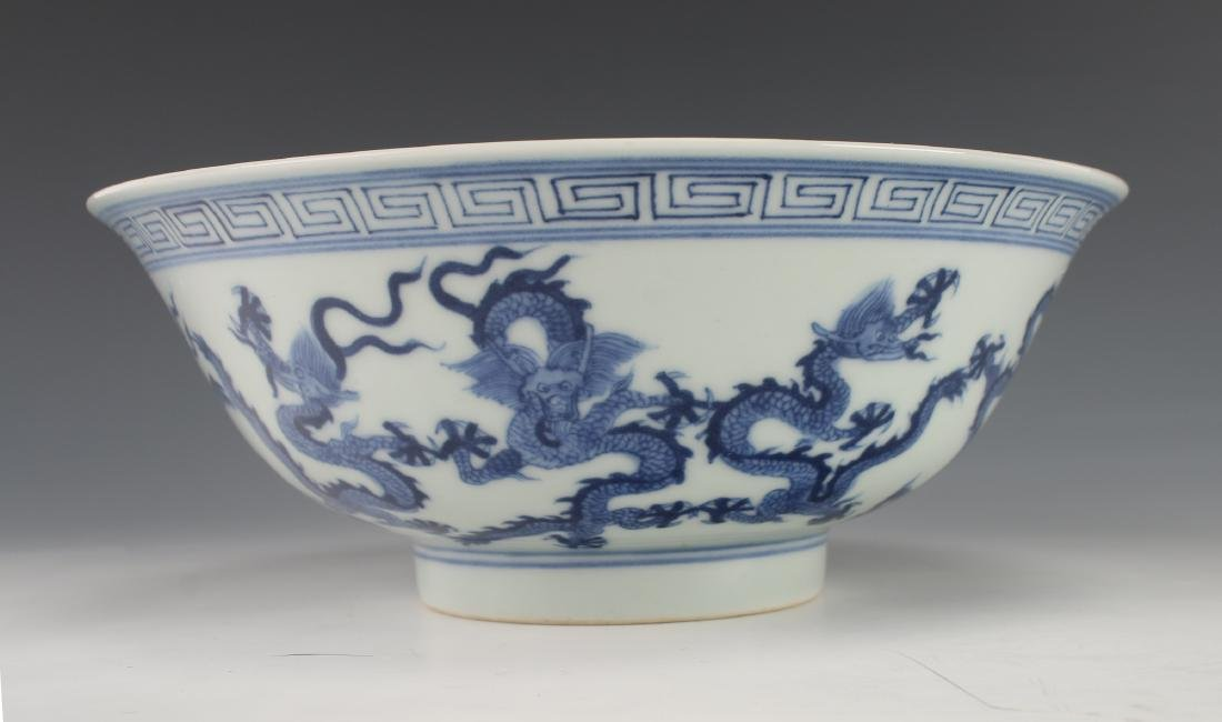 BLUE AND WHITE DRAGON BOWL - 4
