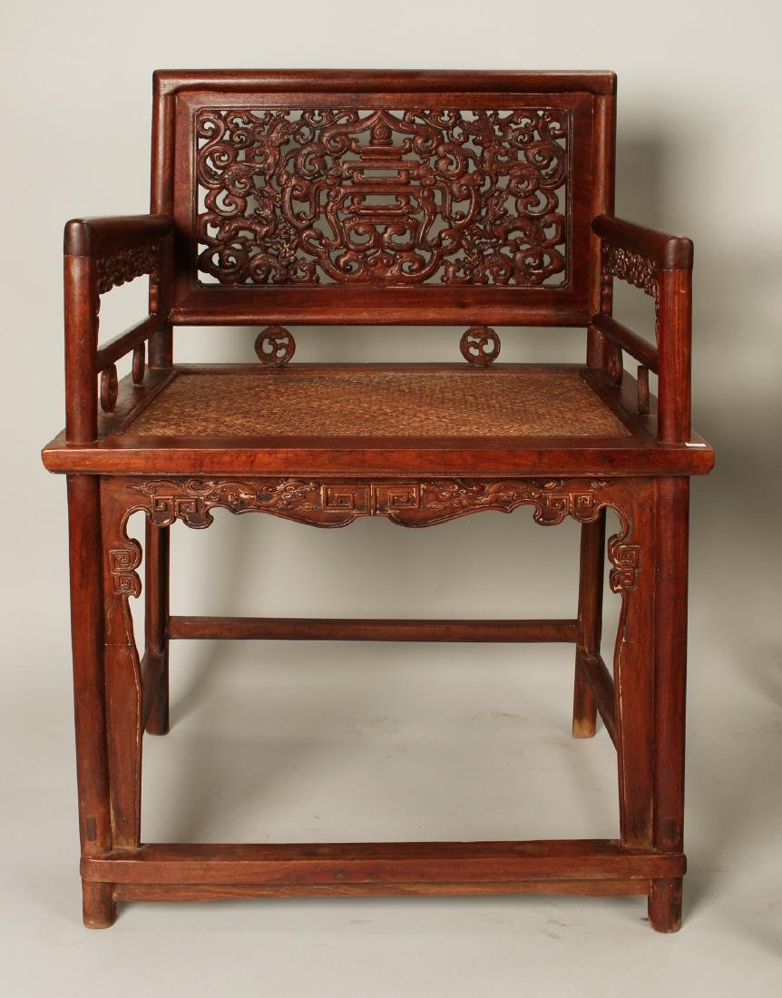 PAIR OF HUAGHUALI ROSE CHAIRS - 4