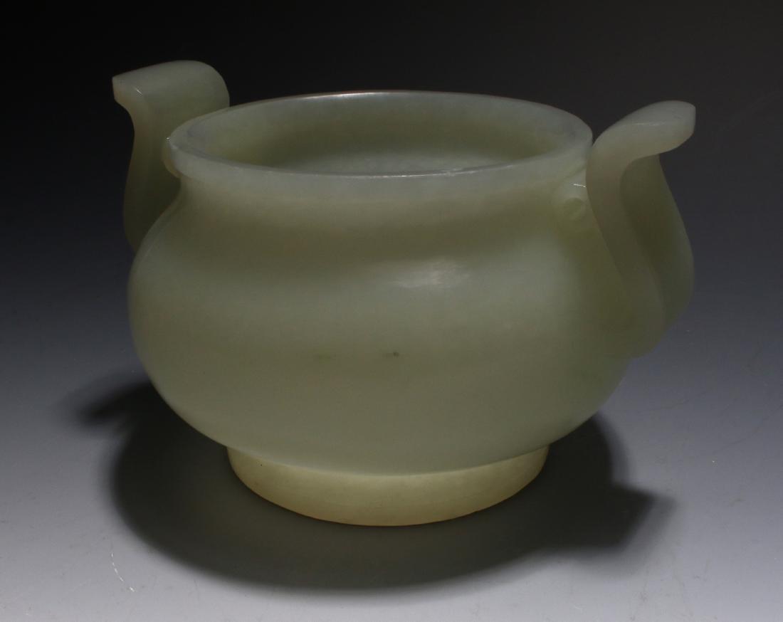 CHINESE WHITE JADE CENSER - 3