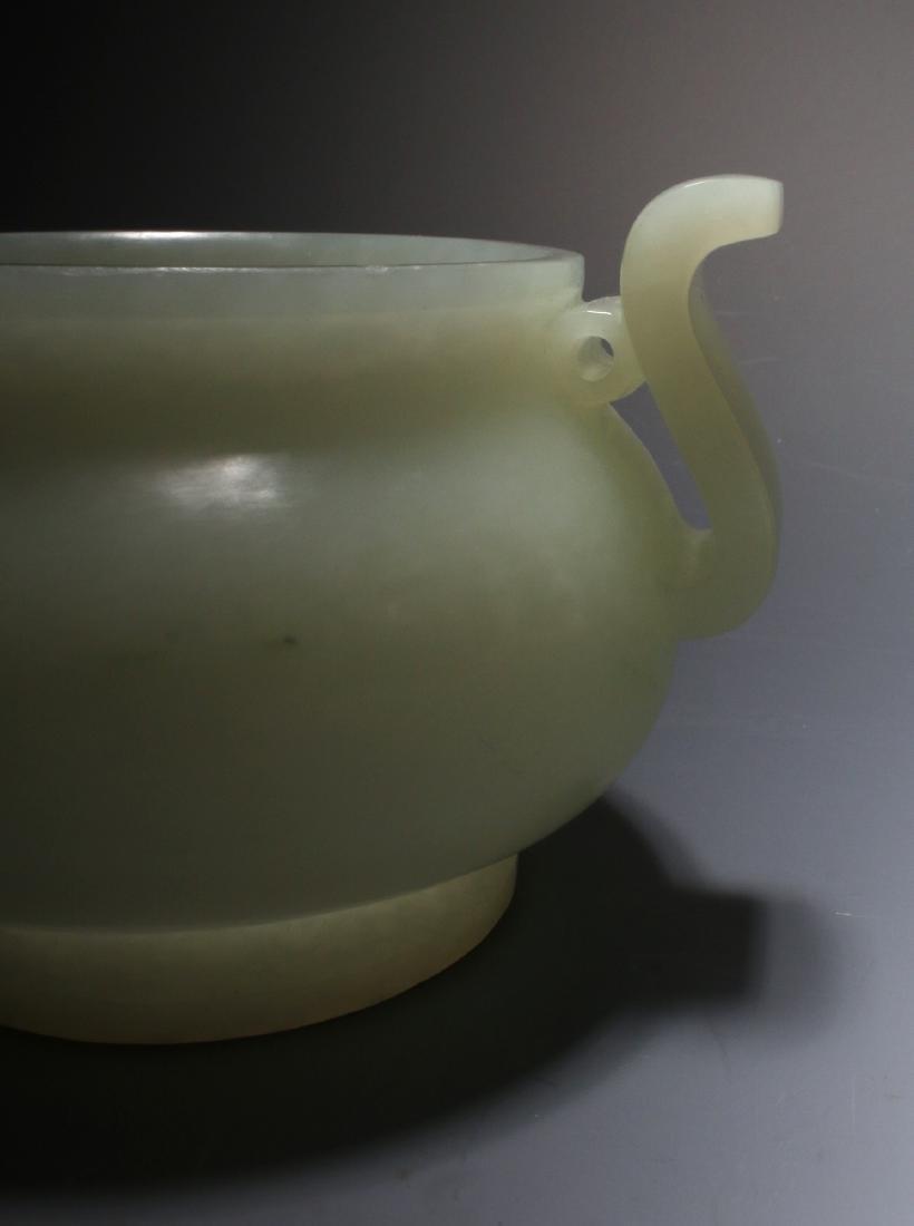 CHINESE WHITE JADE CENSER - 6