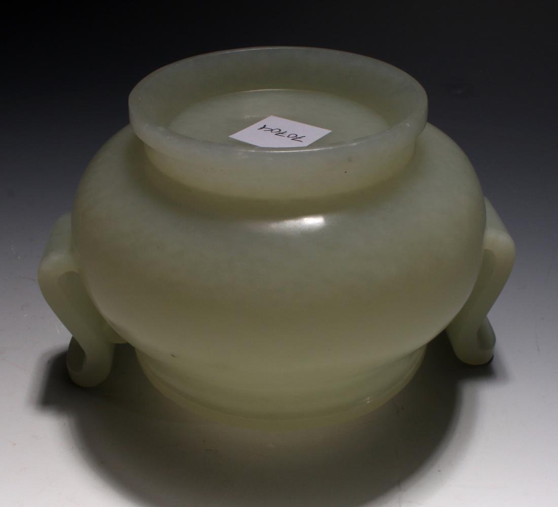 CHINESE WHITE JADE CENSER - 7