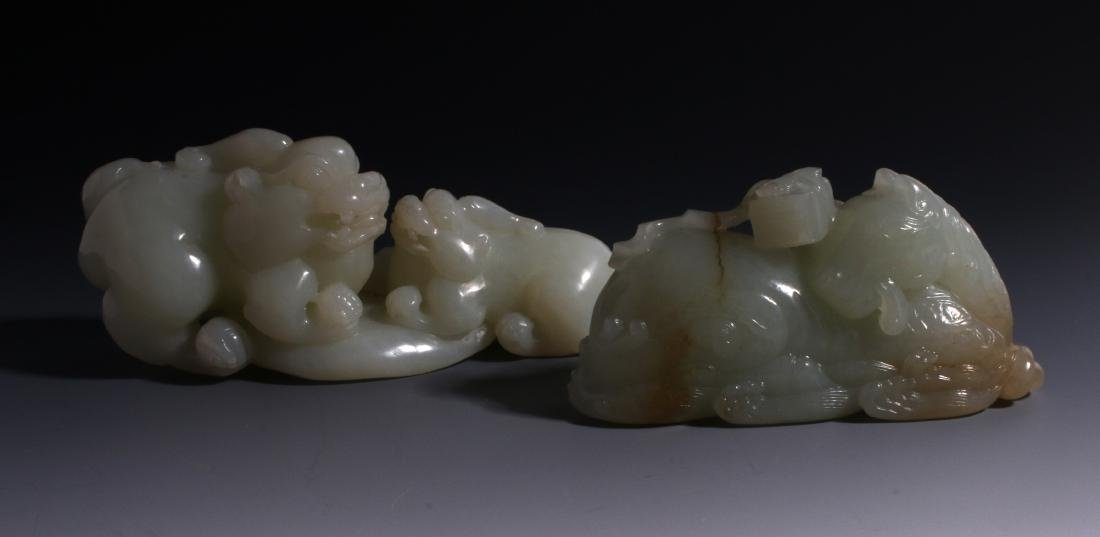 CHINESE HAND CARVED JADE ANIMALS