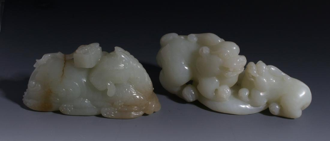 CHINESE HAND CARVED JADE ANIMALS - 2