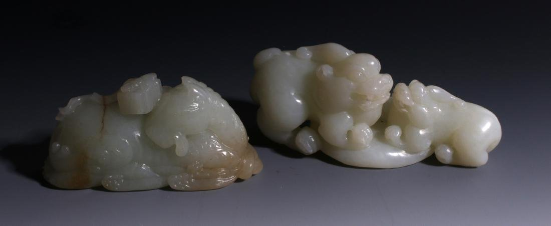 CHINESE HAND CARVED JADE ANIMALS - 3