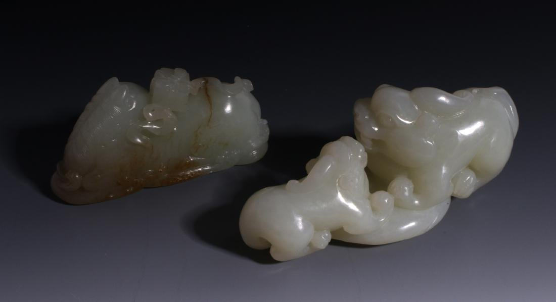 CHINESE HAND CARVED JADE ANIMALS - 4