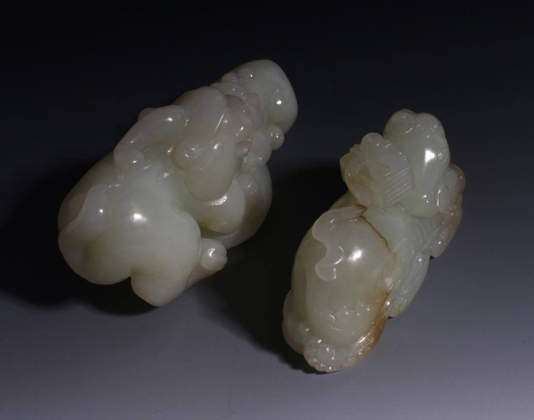 CHINESE HAND CARVED JADE ANIMALS - 5