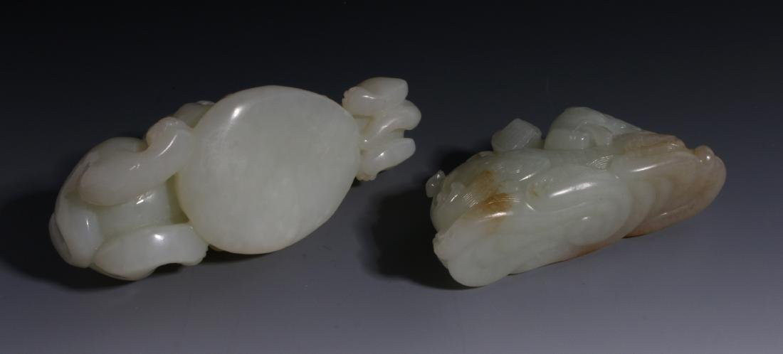 CHINESE HAND CARVED JADE ANIMALS - 6