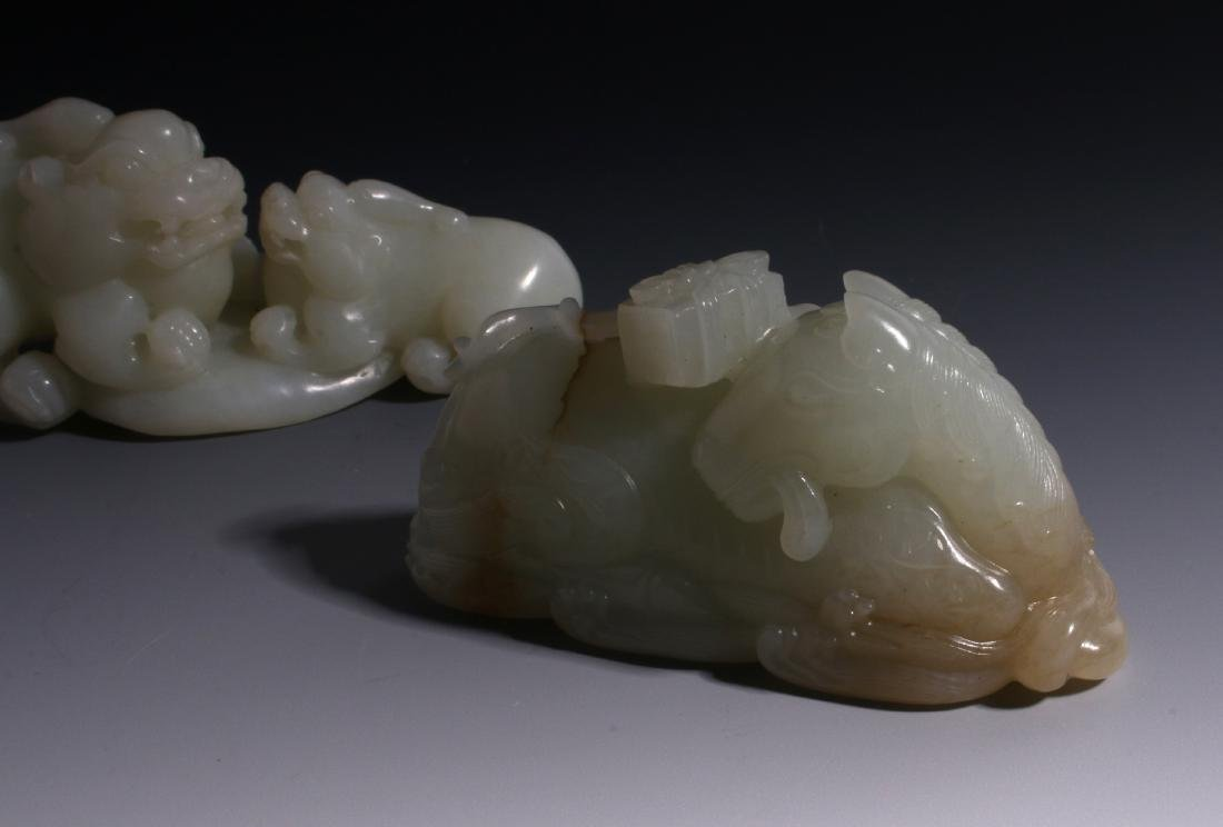CHINESE HAND CARVED JADE ANIMALS - 8