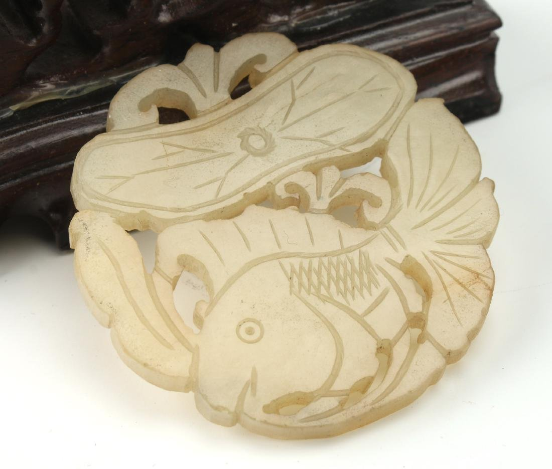 CHINESE CARVED JADE PENDANT - 2