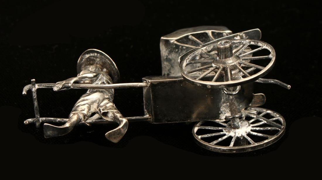 CHINESE EXPORT SILVER RICKSHAW BY WANG HING - 8