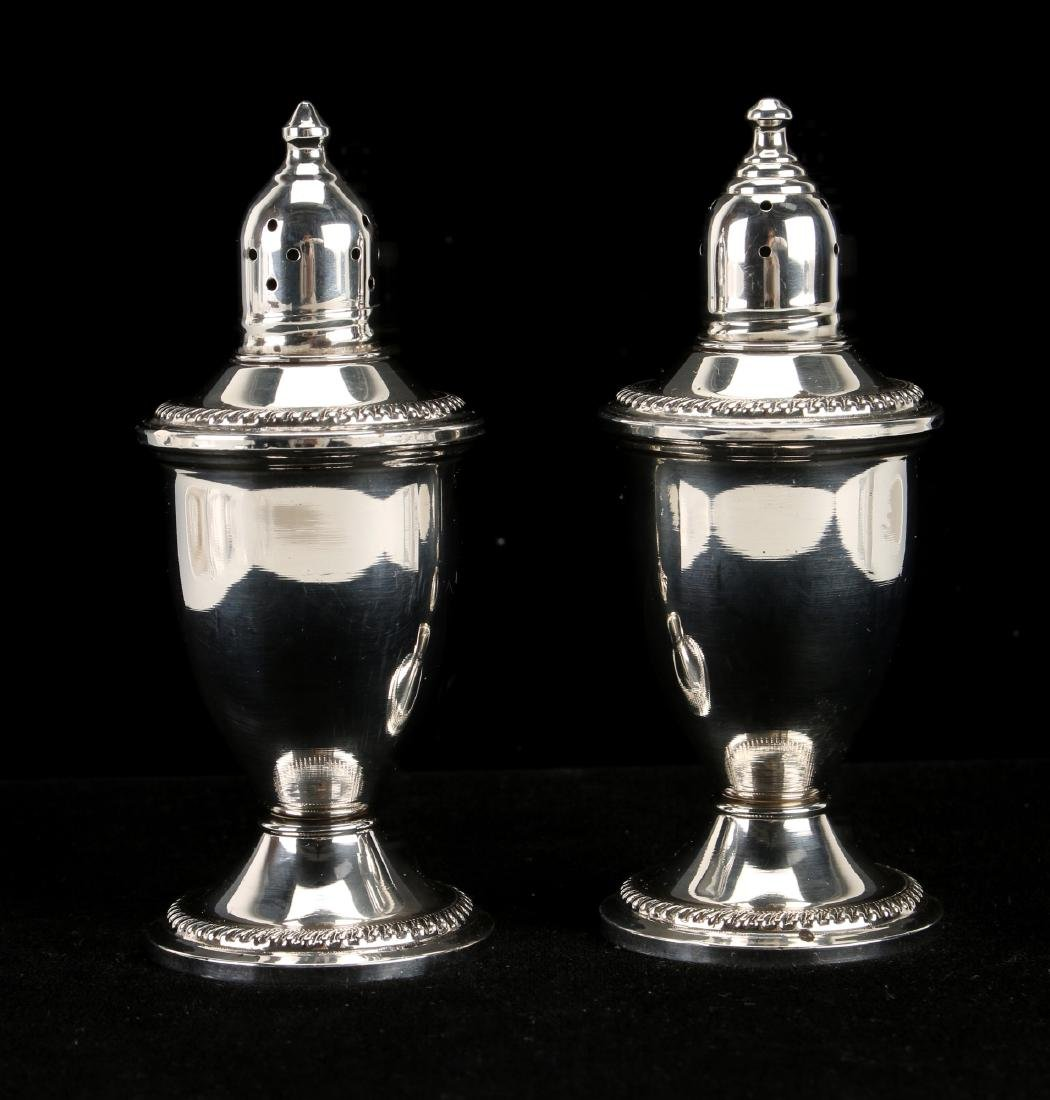 WEIGHTED STERLING SILVER SALT & PEPPER SHAKERS
