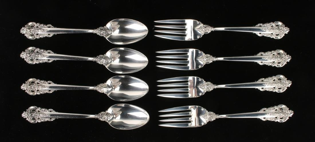 EIGHT WALLACE BAROQUE STERLING FORKS & SPOONS