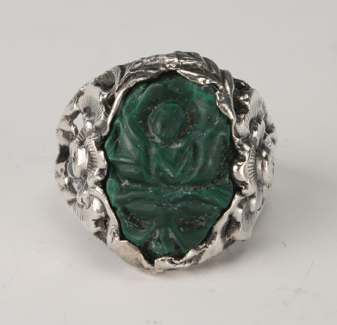 MALACHITE & SILVER RING