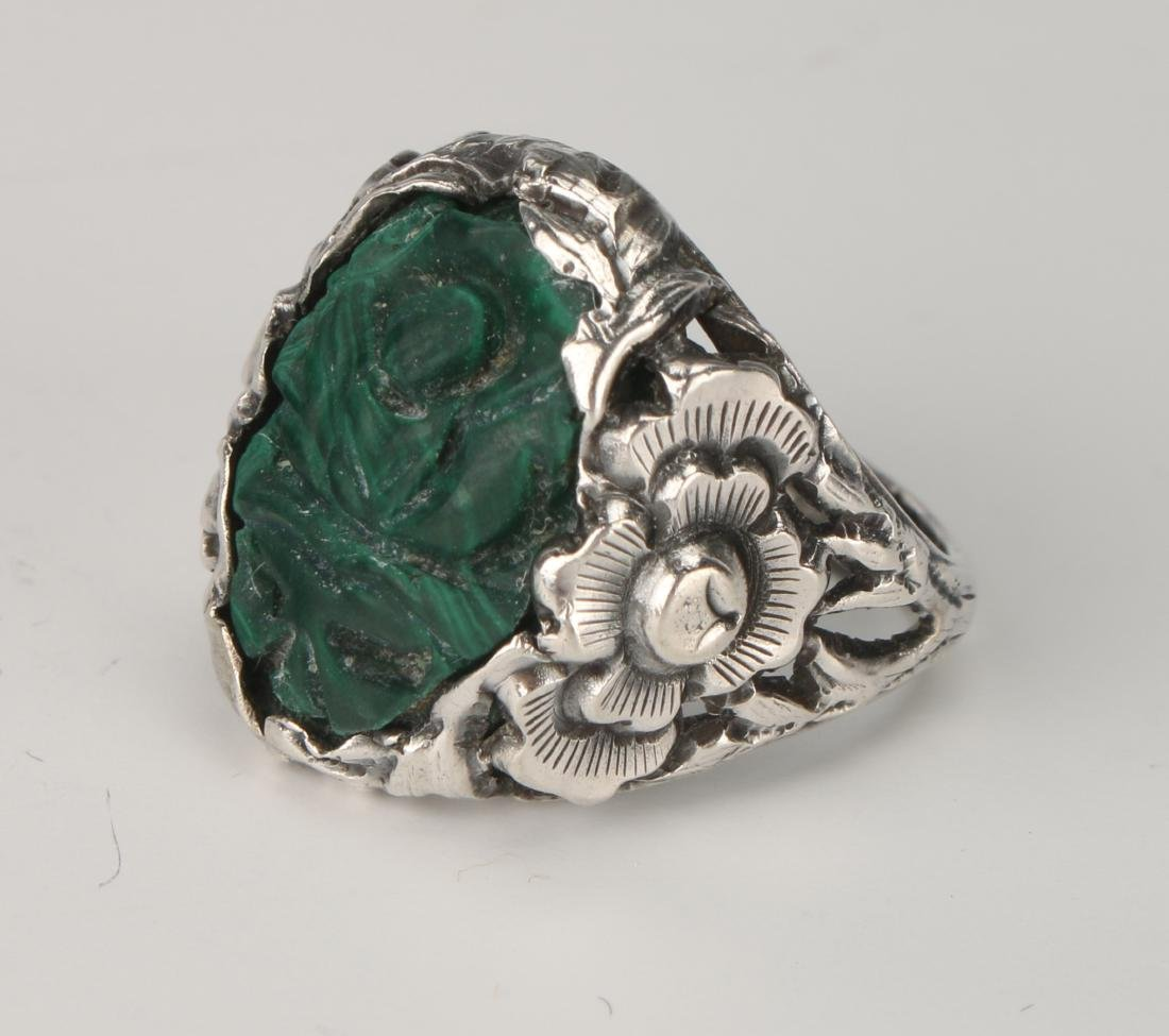 MALACHITE & SILVER RING - 2