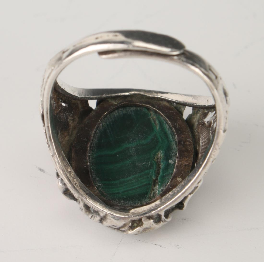 MALACHITE & SILVER RING - 3