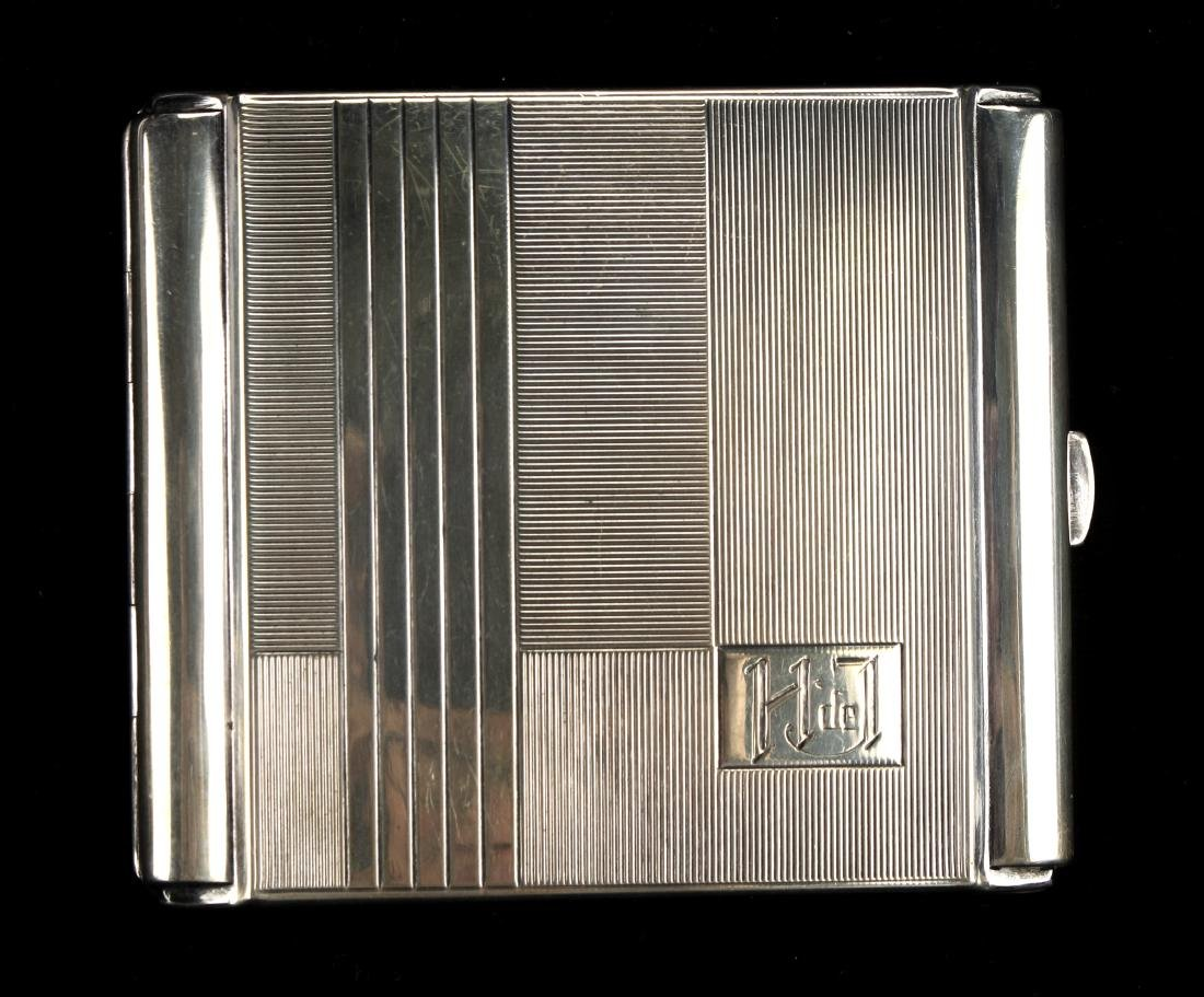 ART DECO STERLING CIGARETTE CASE BY ROBERT KRAFT