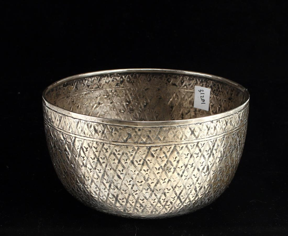 CHINESE SILVER BOWL - 2