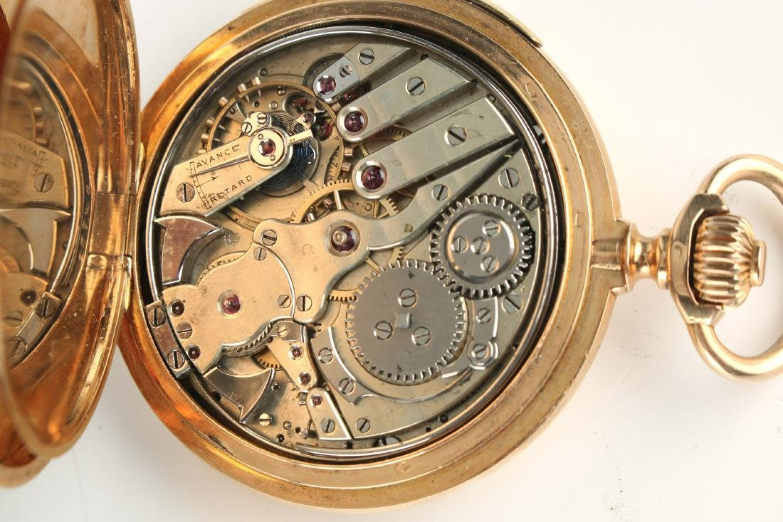 SWISS 18K G MINUTE REPEATER W CHRONOGRAPH C. 1888 - 4