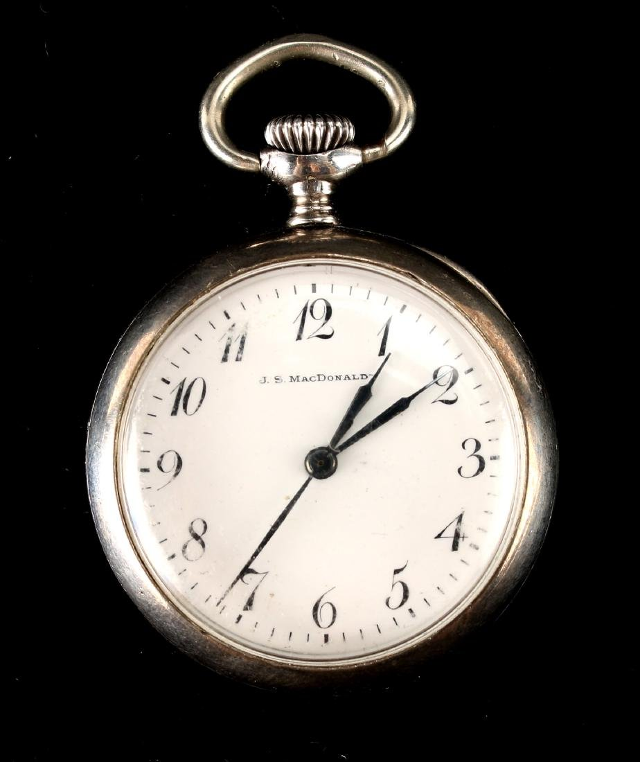 J.S. MACDONALD STERLING POCKET WATCH