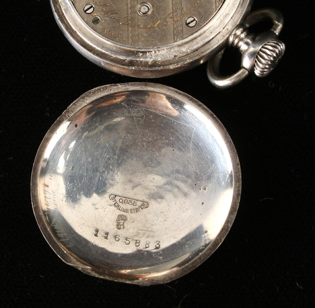 J.S. MACDONALD STERLING POCKET WATCH - 4