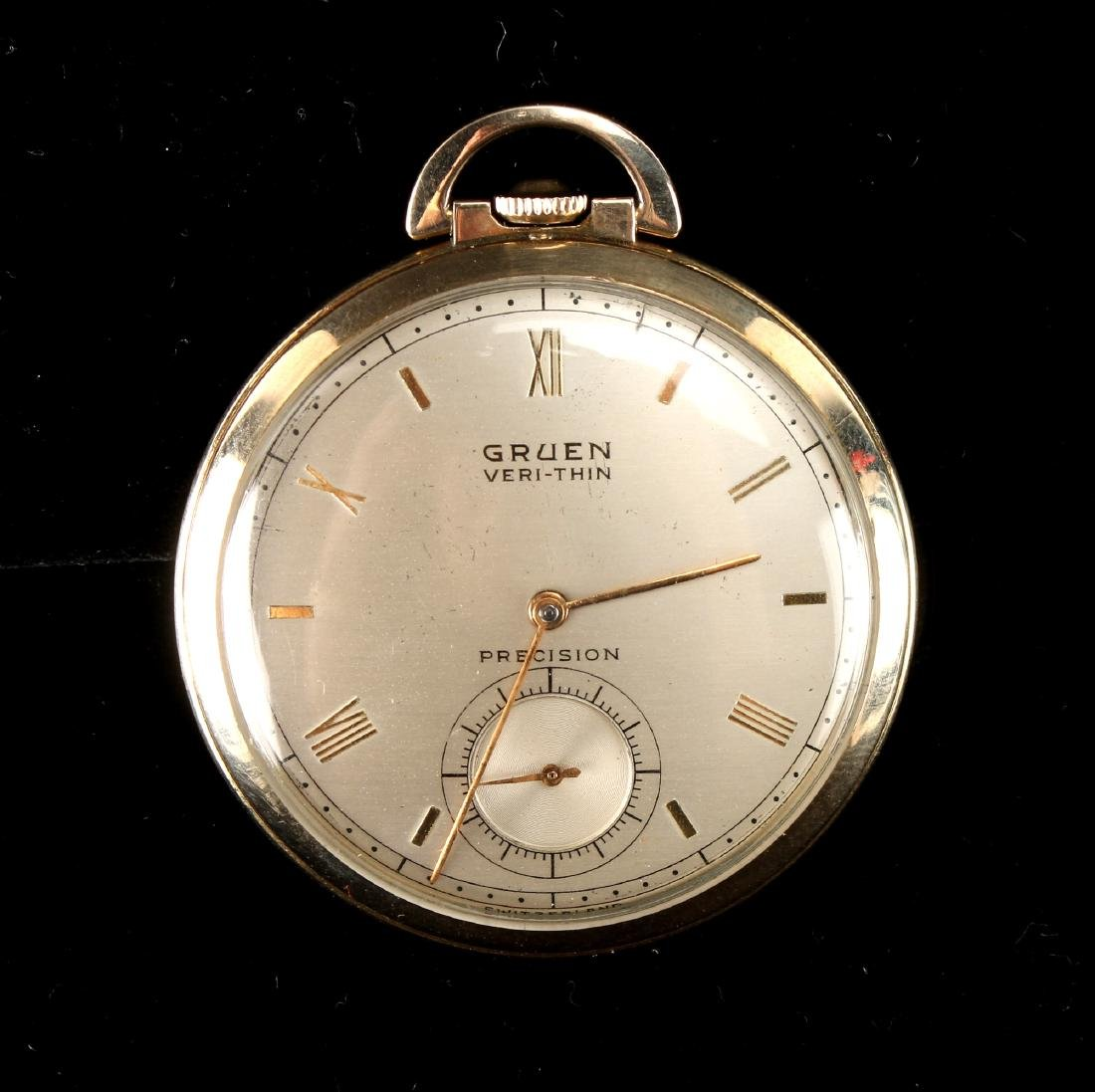 GRUEN VERI-THIN PRECISION POCKET WATCH