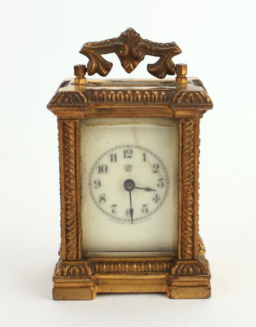 MINIATURE CARRIAGE CLOCK BY WATERBURY